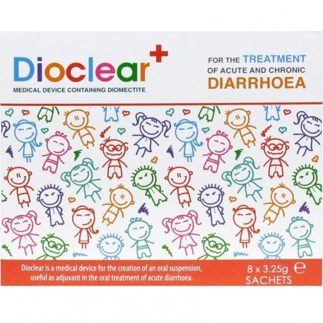 Dioclear sachets 3.25g 8 pack