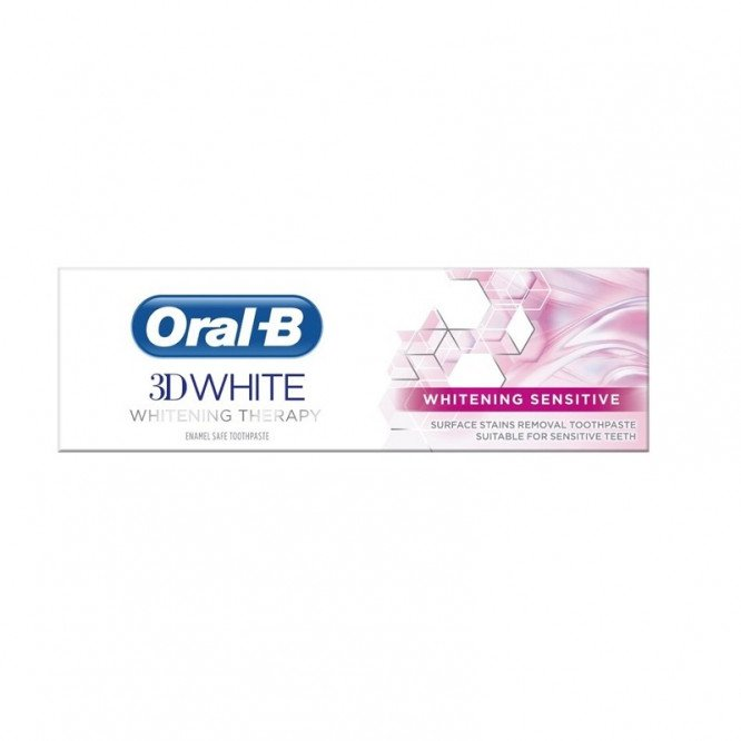 ORAL-B toothpaste 3D white whitening therapy sensitive 75ml