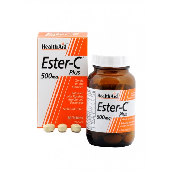 Healthaid vitamin C supplements balanced ester C tablets 500mg 60 pack