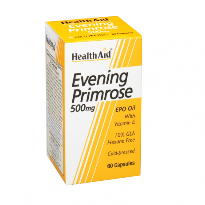 Healthaid supplements evening primrose oil & vitamin E capsules 500mg 60 pack