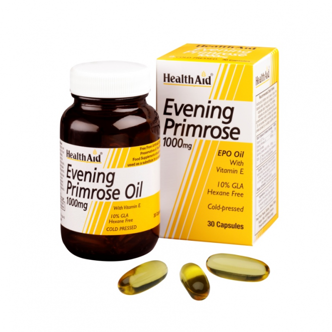 Healthaid supplements evening primrose oil & vitamin E capsules 1000mg 30 pack