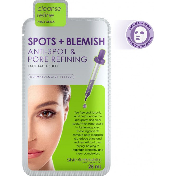 Skin Republic Face Mask Spots & Blem 25Ml