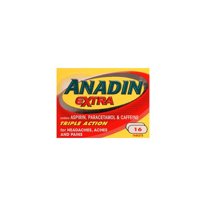 Anadin extra caplets 16 pack