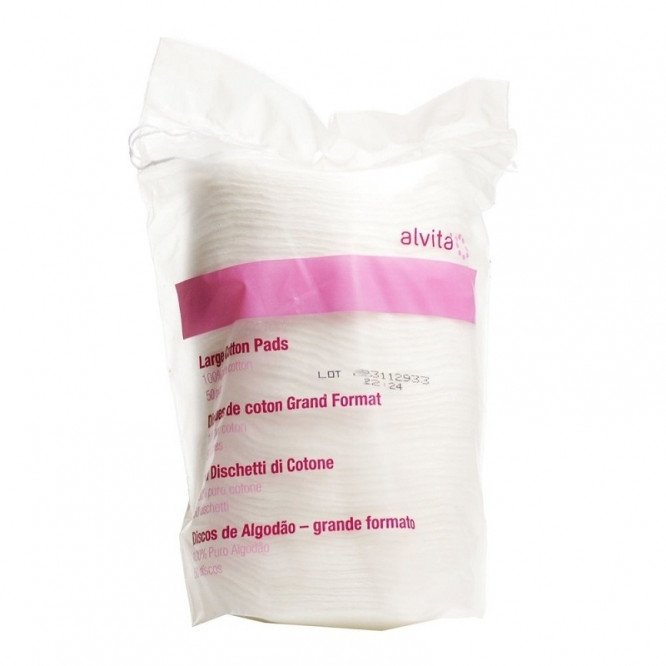 Alvita cosmetic pads square 50 pack