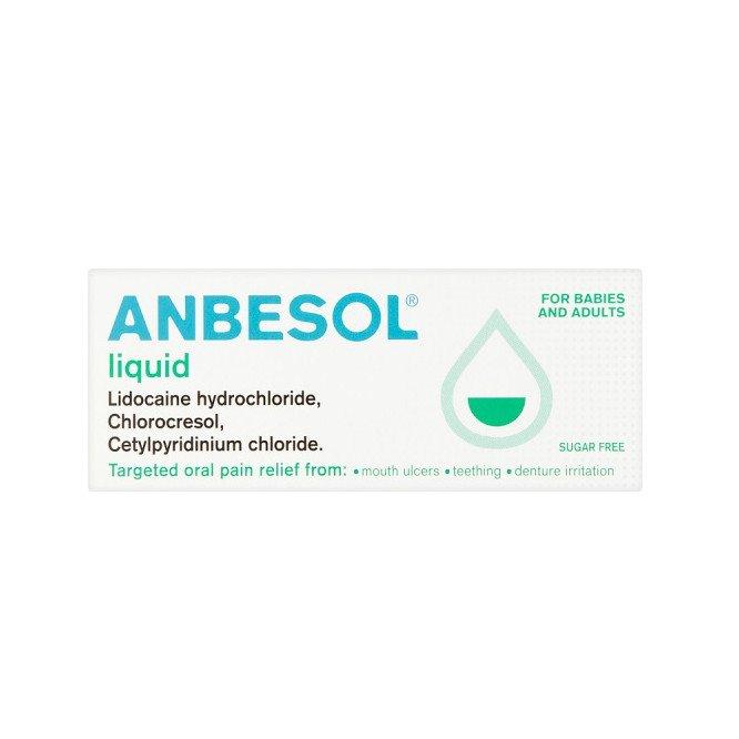 ANBESOL oral liquid 0.02%/0.10% w/w/0.9% w/w 10ml