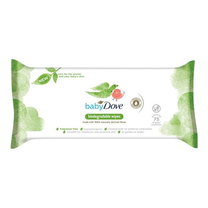 Baby Dove Biodegradable Fragrance Wipes