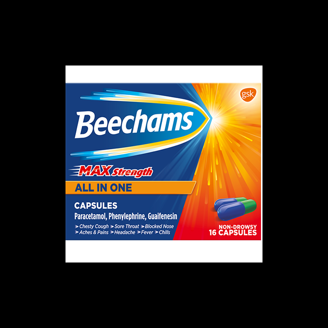 BEECHAMS ALL-IN-ONE max capsules 100mg/500mg/6.1mg 16