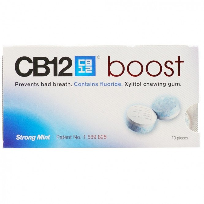 Cb 12 chewing gum boost strong mint s/f 10 pack