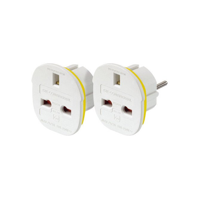 Go Travel Continental Adaptor Twin