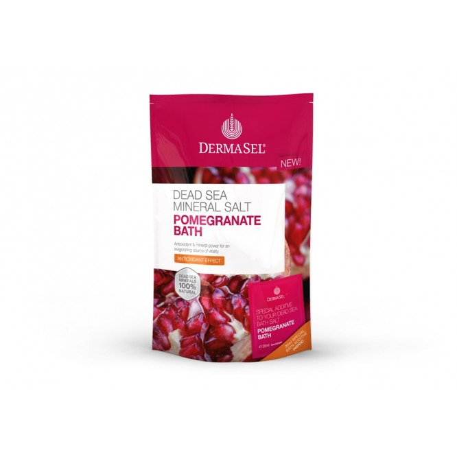 DermaSel Dead Sea Bath Salts Pomegranate