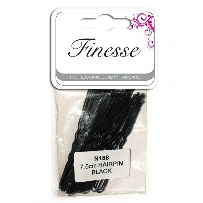 Finesse Black Waved Hair Pins