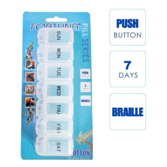 FORTUNA PILL BOX PUSH BUTTON 7 DAYS