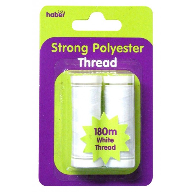 HABER SEWING THREAD (WHITE  2 PK)