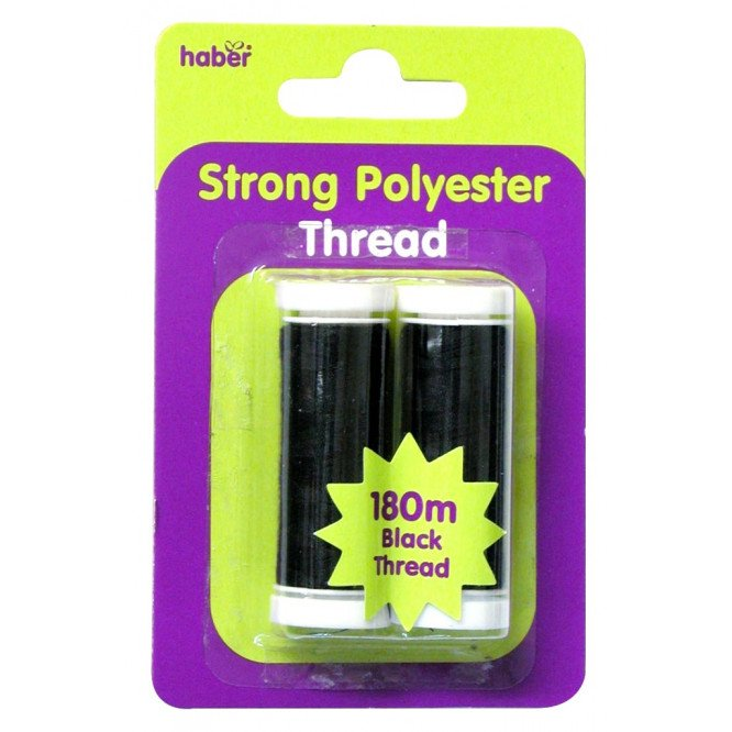 HABER SEWING THREAD (BLACK 2 PK)