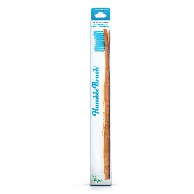 Humble Brush Adult - blue, medium bristles