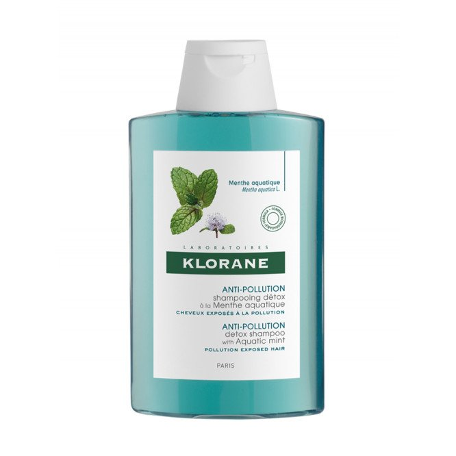 Klorane Anti-Pollution Detox Shampoo with Aquatic Mint 200ml