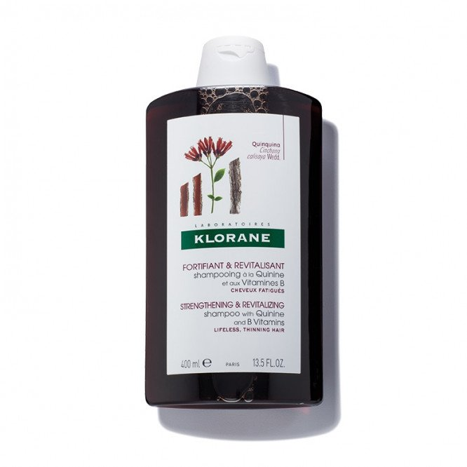 Klorane Strengthening & Revitalising Shampoo with Quinine and B Vitamins 400ml