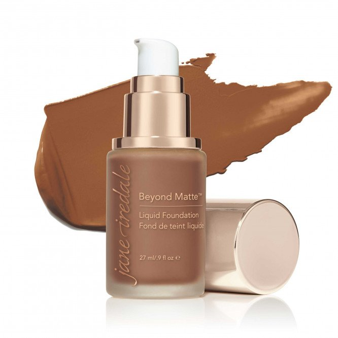 Jane Iredale Beyond Matte™ Liquid Foundation - M14 - deep brown with golden undertones