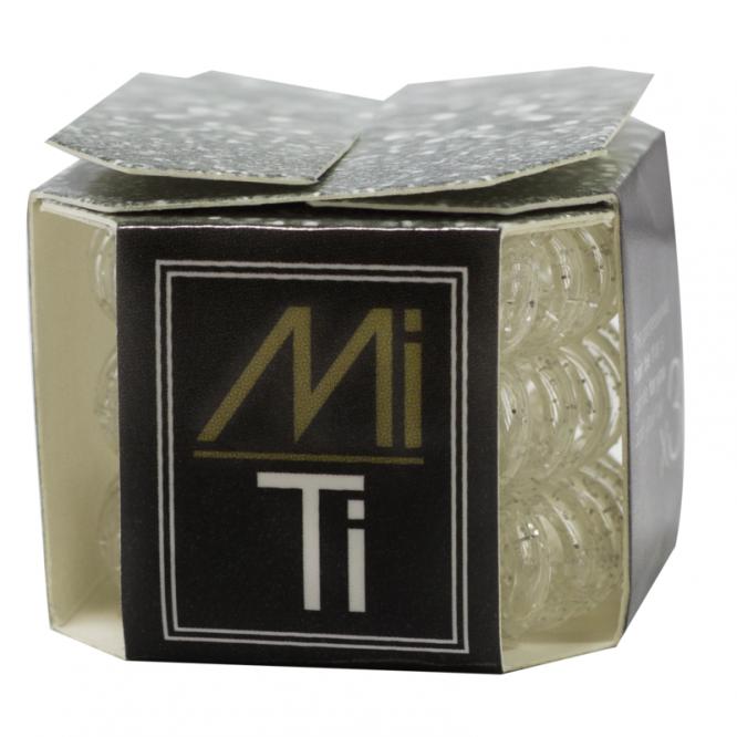 Mi Ti Professional Hair Tie - Clear Glitter