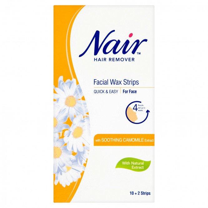 Nair facial wax strips 12 pack