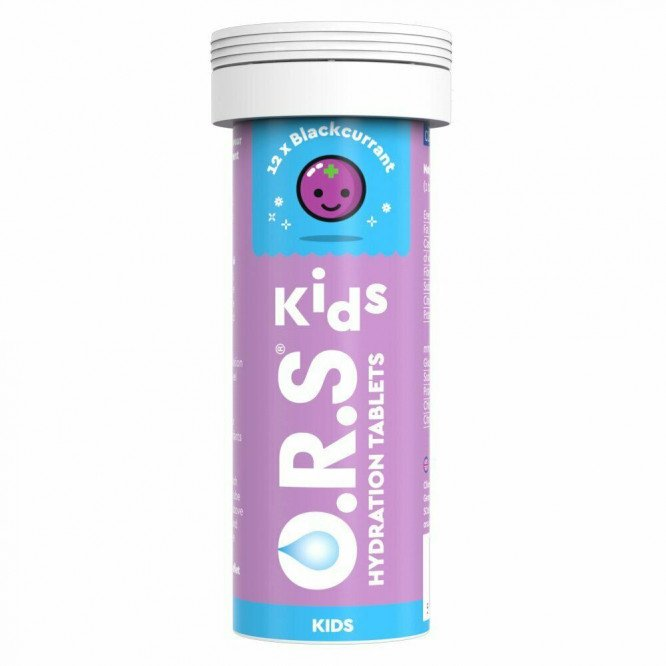 O.R.S. oral rehydration salt for children tablets blackcurrant 12