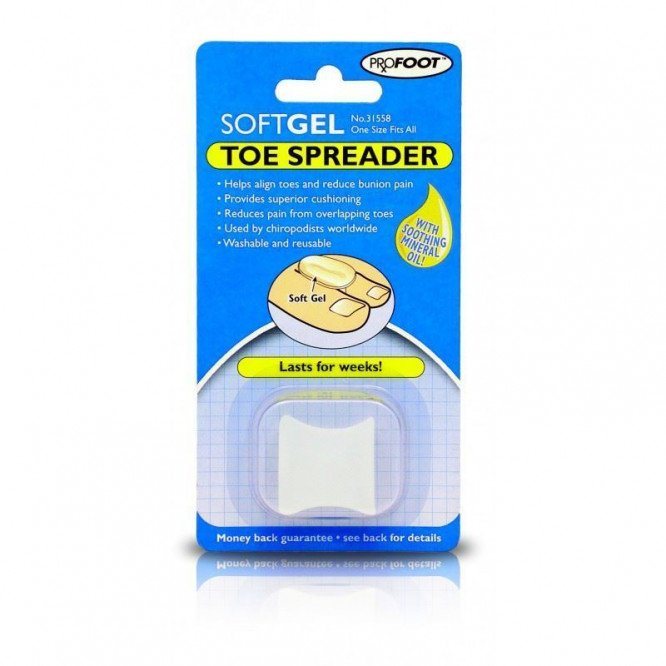 Profoot soft gel polymer range toe spreader