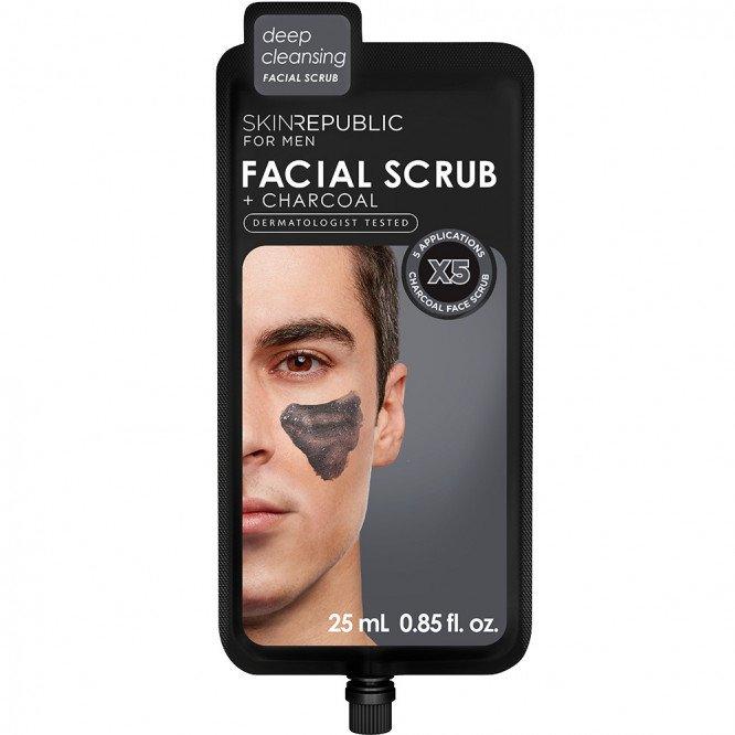 Skin Republic Mens Charcoal Facial Scrub