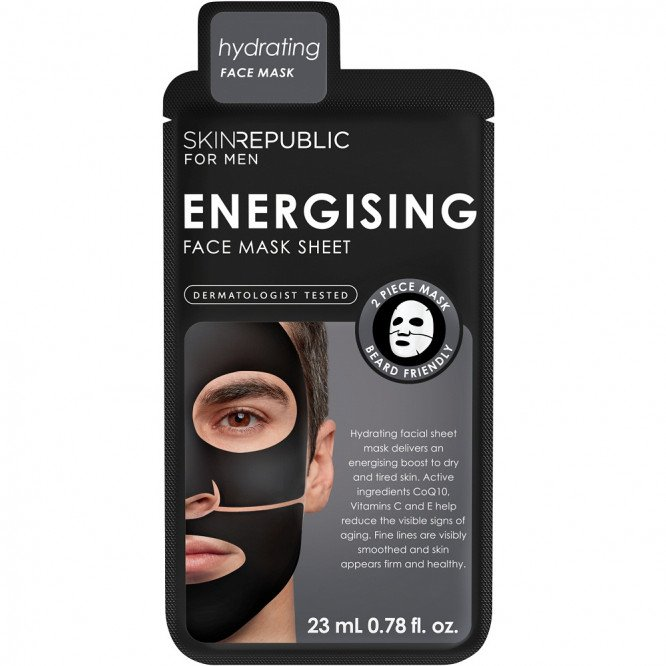 Skin Republic Mens Energising Face Mask Sheet