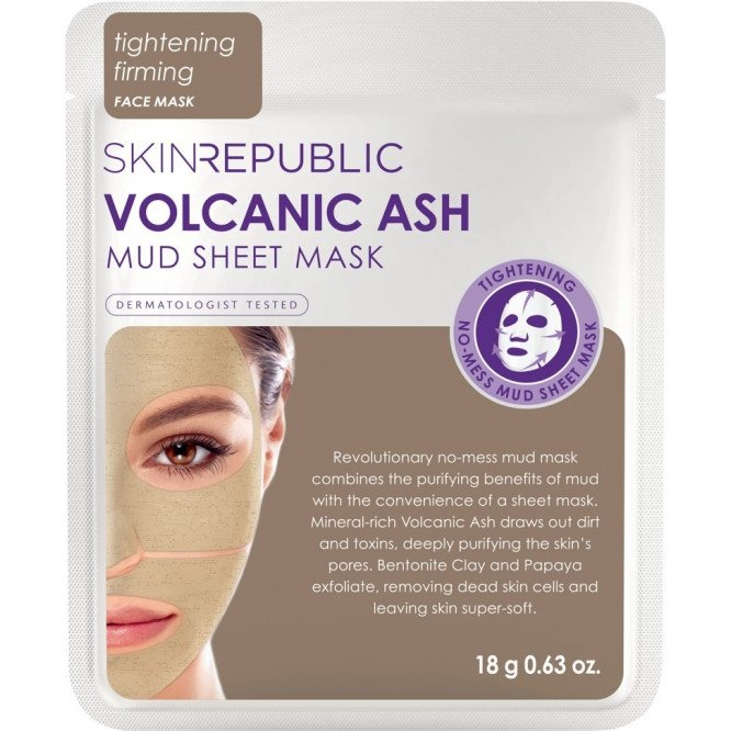 SKIN REPUBLIC Volcanic Ash Mud Sheet Face Mask 18g