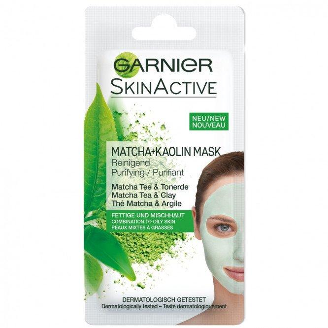 SKIN NATURALS face masks purifying matcha & kaolin 8ml