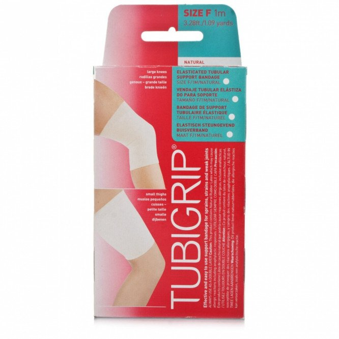 Tubigrip tubular support bandages natural colour size F 10cm x 1m