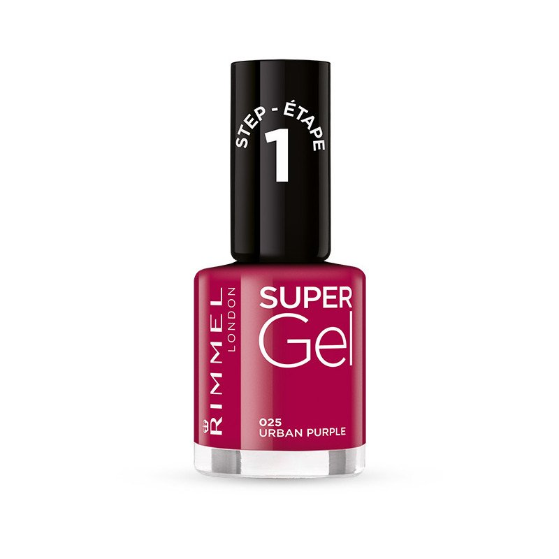 Rimmel nail care nail polish super gel urban purple