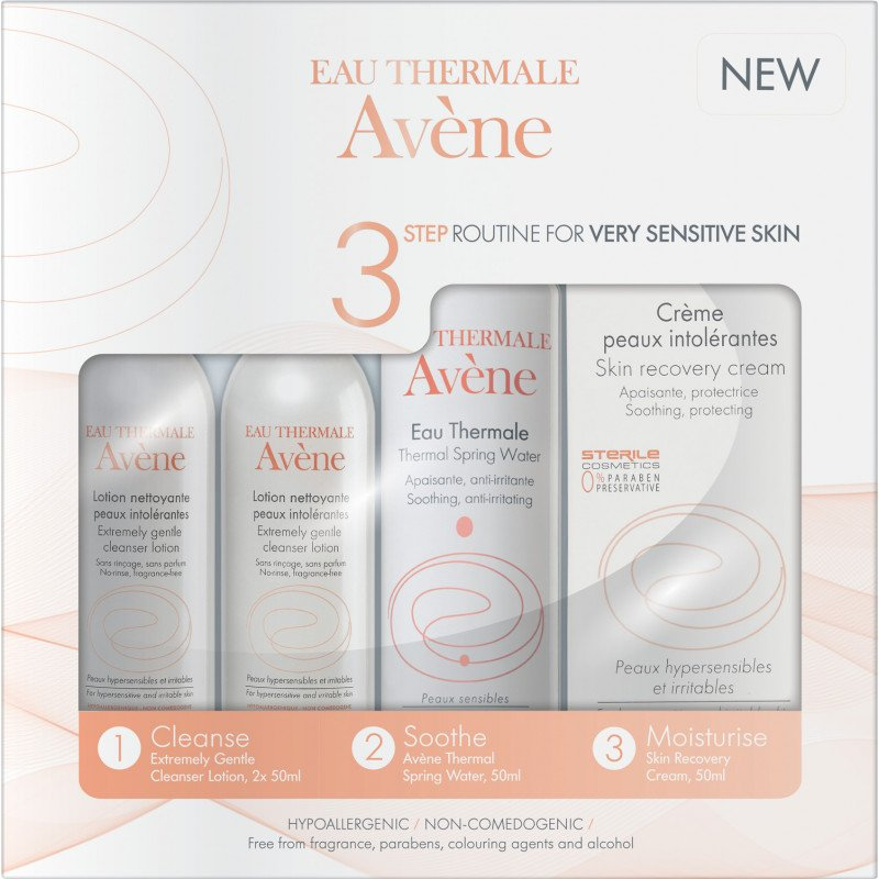 Eau Thermale Avene 3 step routine very sensitive skin