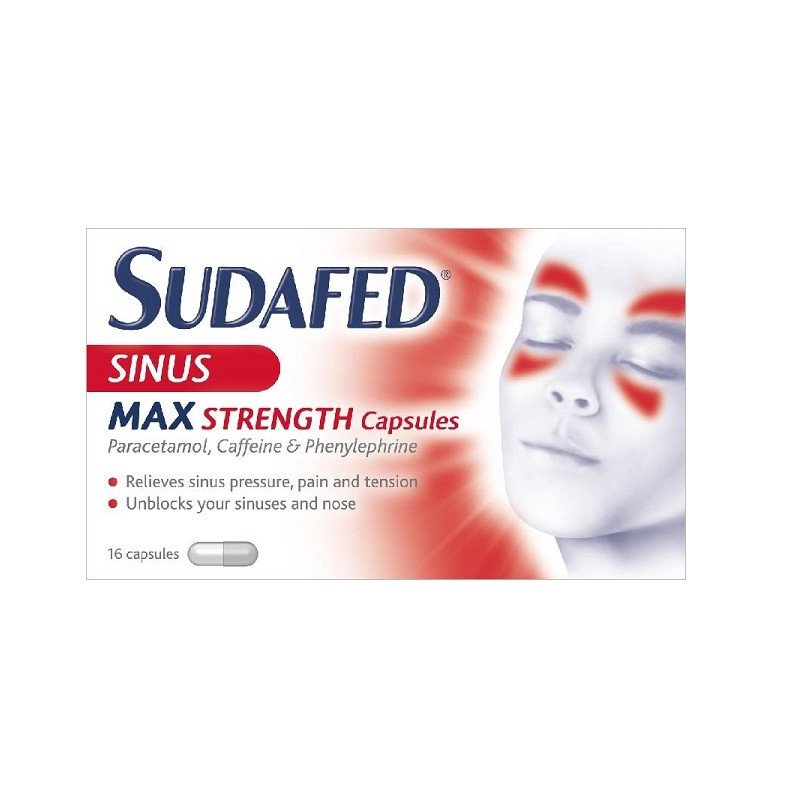 Sudafed congestion & headache max strength capsules 16 pack