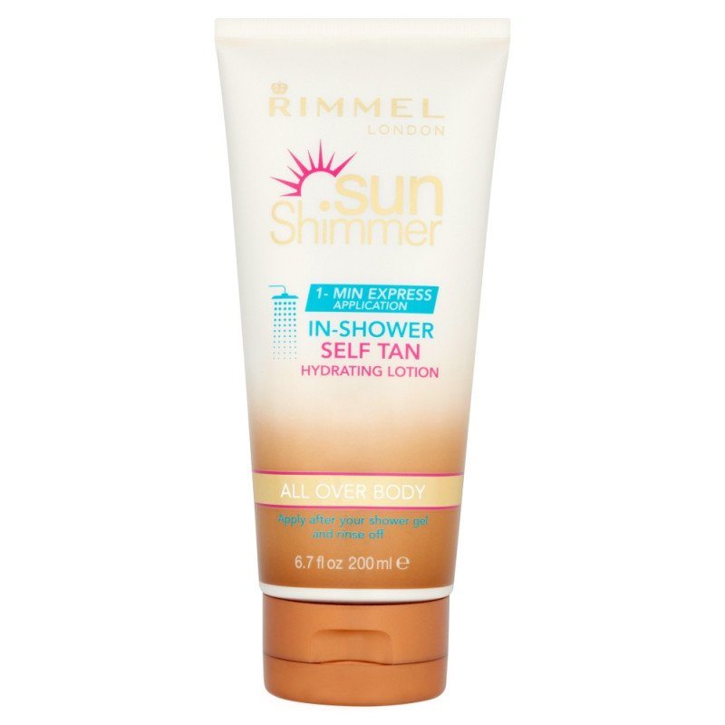 Rimmel sunshimmer in shower gradual tan hydrating lotion 200ml