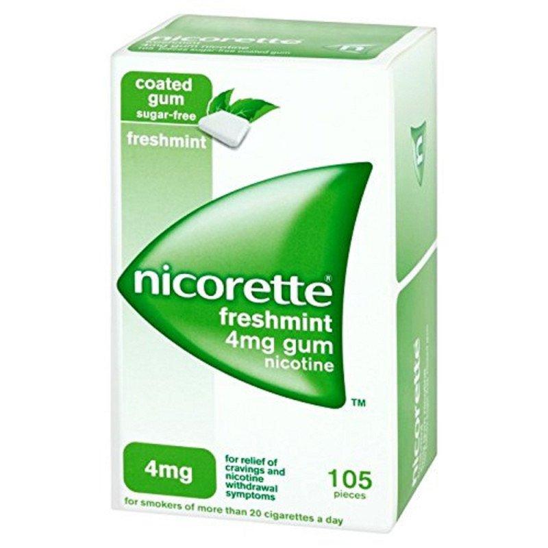 Nicorette chewing gum freshmint 4mg 105 pack