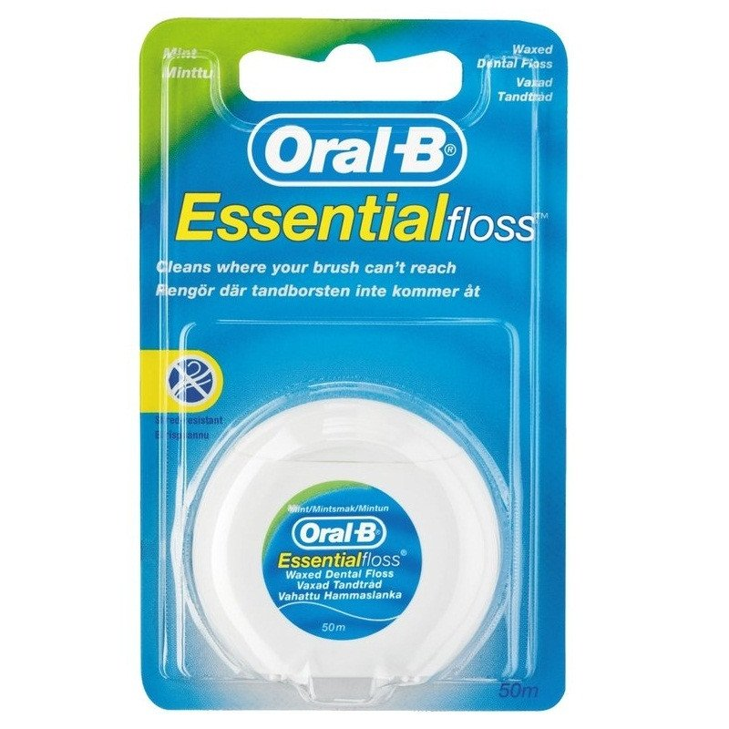 Oral-b dental floss Essential floss mint waxed