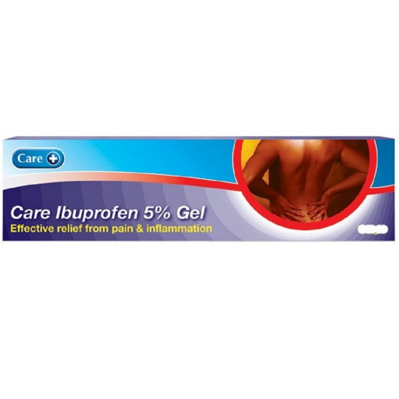 Care ibuprofen gel 5% 50g