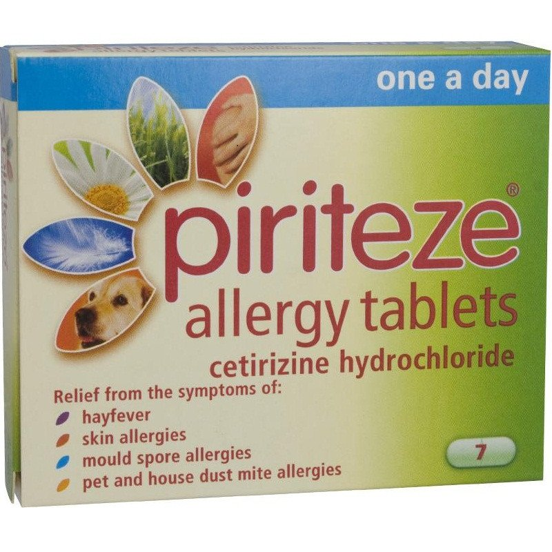 PIRITEZE allergy tablets one-a-day 10mg 7