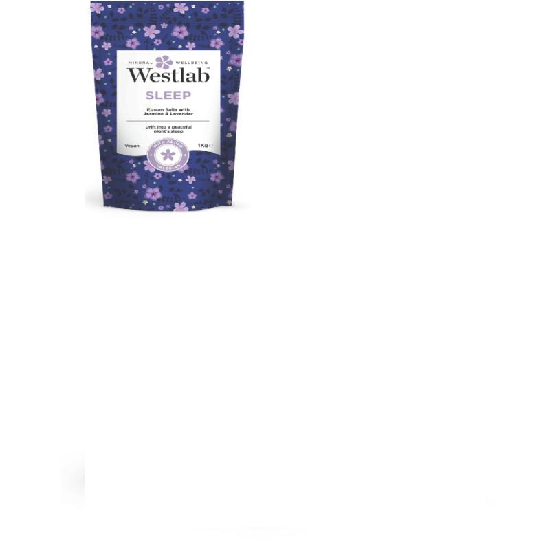 WESTLAB bath salts epsom & dead sea with lavender & jasmine 1kg
