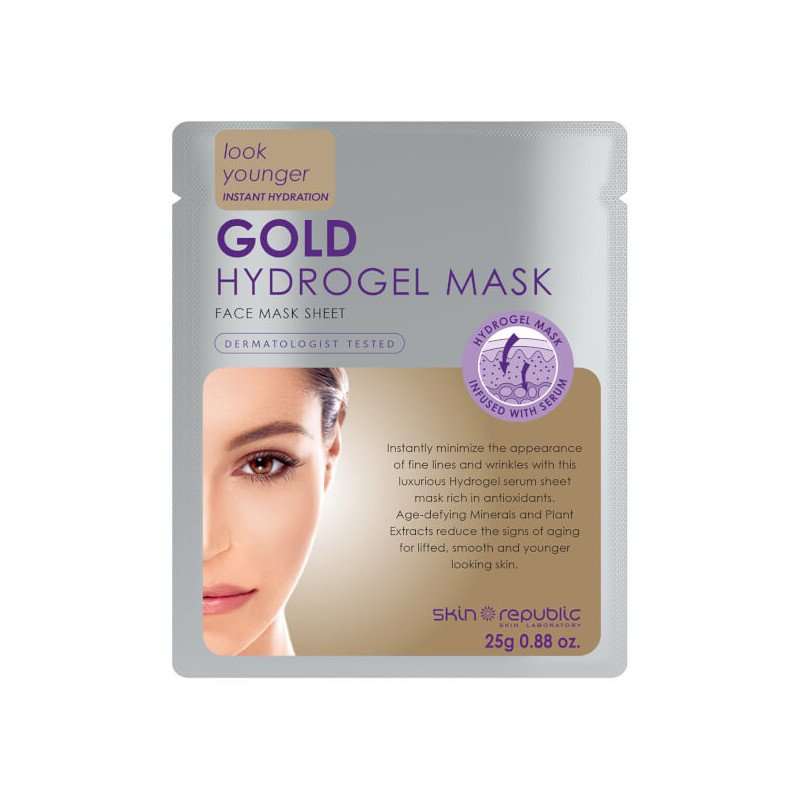 Skin republic face mask gold hydrogel mask 25g