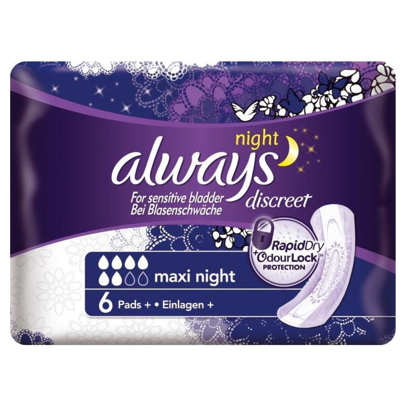 ALWAYS sanitary towels | discreet | pad