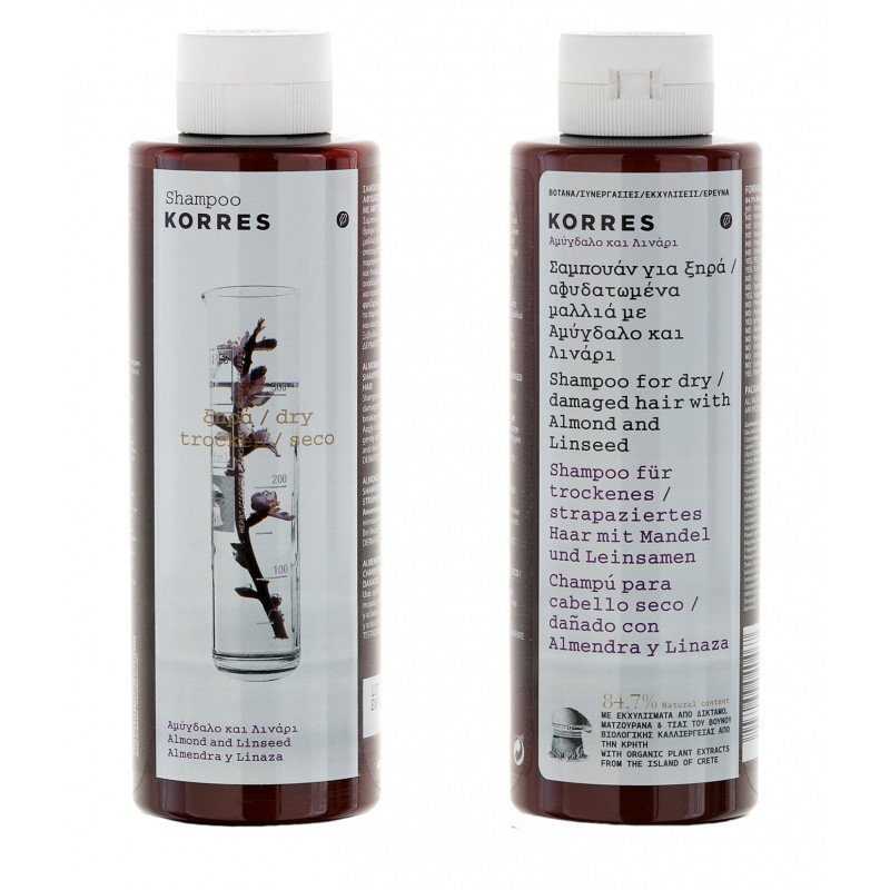 Korres Shampoo Almond and Linseed_for dry/ damaged hair_250ml
