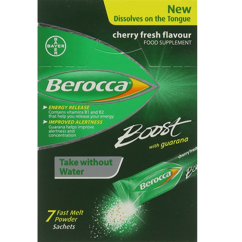 BEROCCA BOOST ENERGY VITAMIN POWDER - PACK OF 7 SACHETS