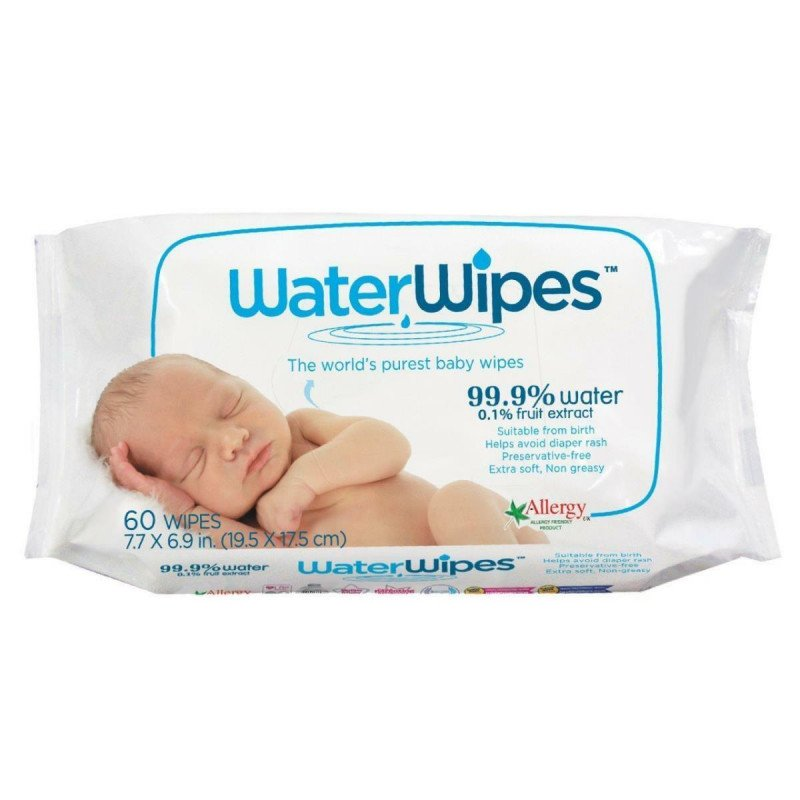 Derma water wipes 60 pack