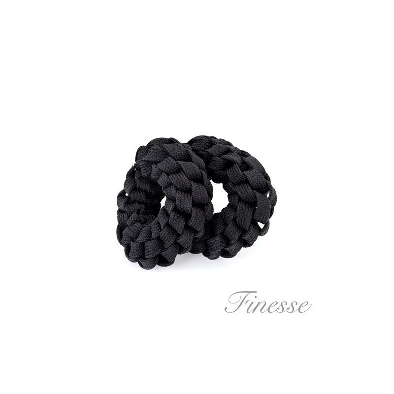 Finesse 2 Piece Scrunchie Set Black