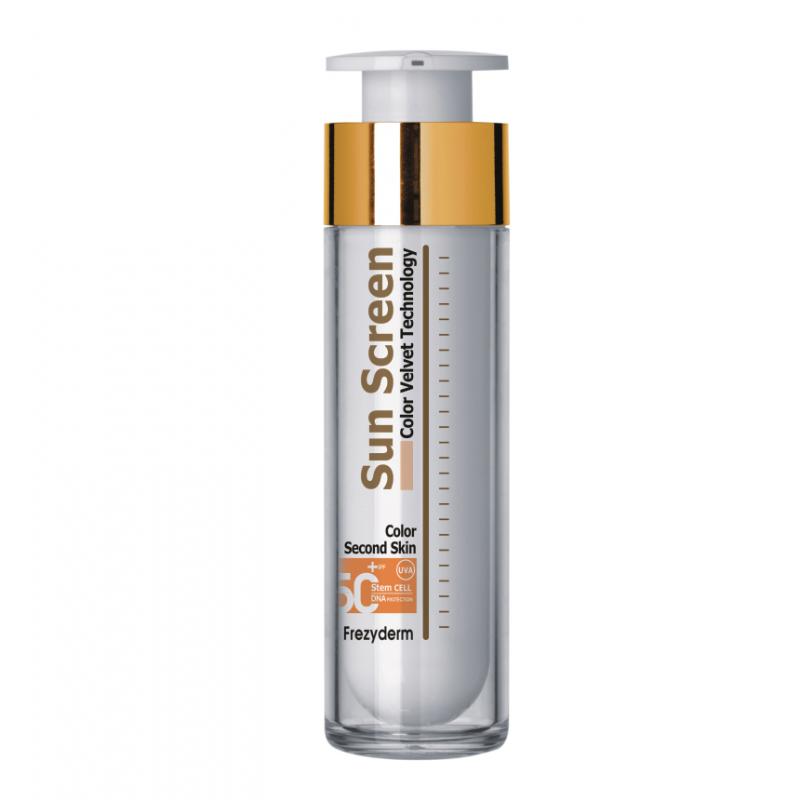 Frezyderm Sun screen color velvet second skin technology spf50