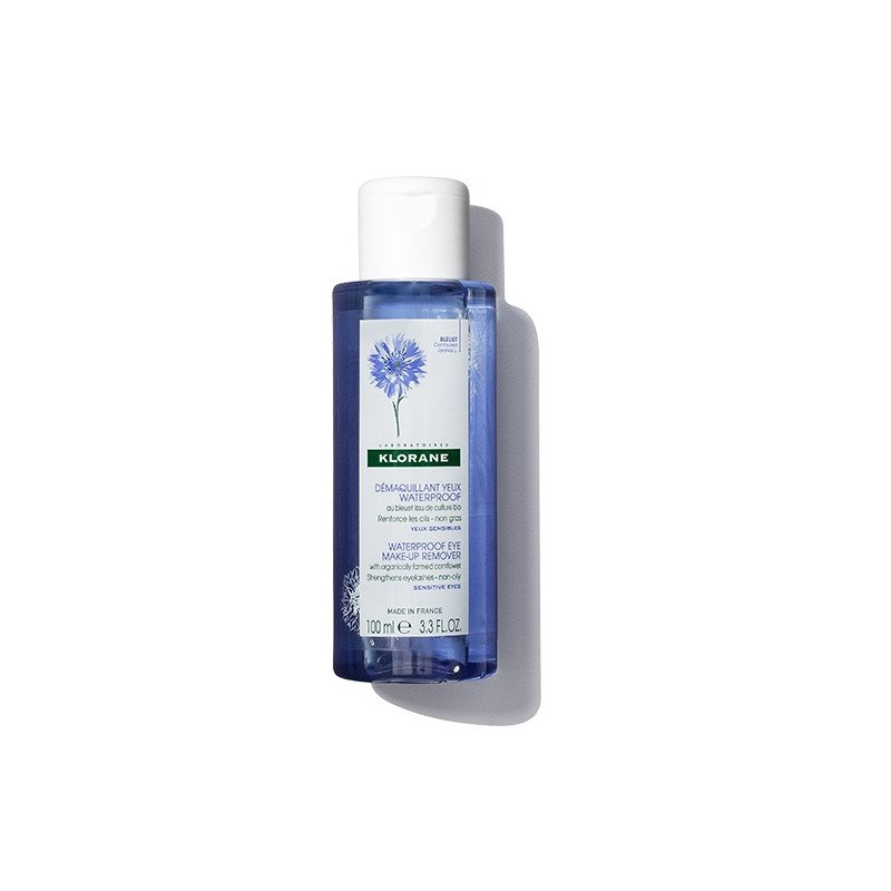 Klorane Waterproof Eye Make-Up Remover with Cornflower 100ml