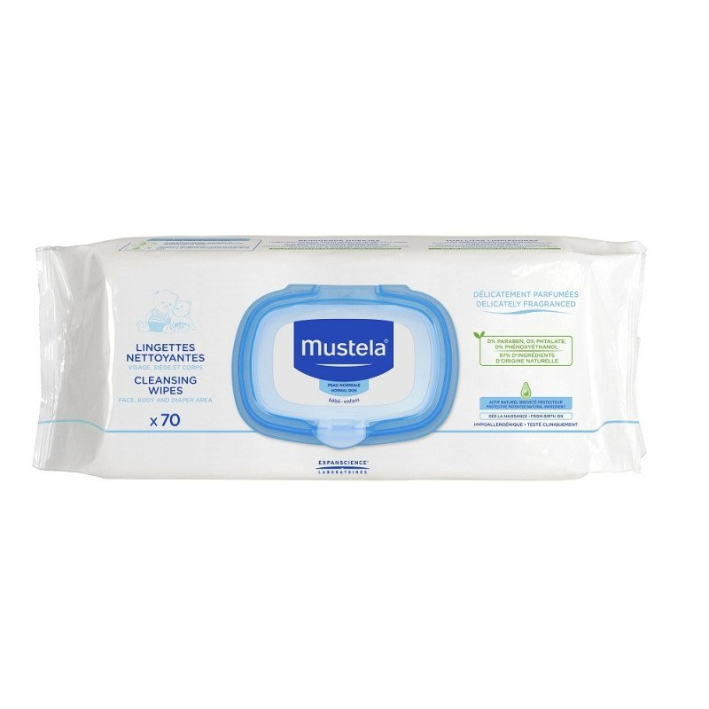 Mustela Cleansing Wipes - 70 Packs
