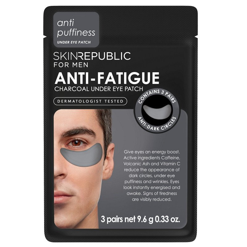 Skin Republic Anti-Fatigue Charcoal Under Eye Patch for Men